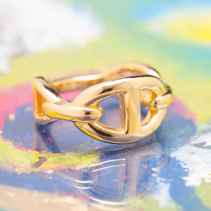 Anchor Chain Rings In Silver Or Gold