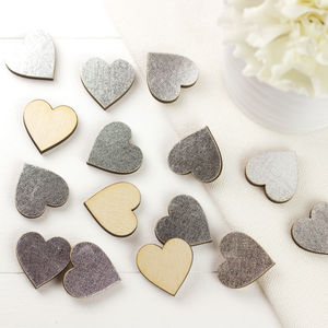 Silver Scatter Hearts For Weddings And Occasions - table decorations