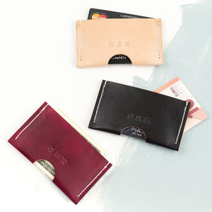Leather Personalised Card Holder - card holder
