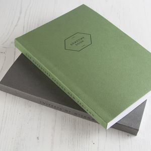 Personalised Notebook Leather Effect - new in home