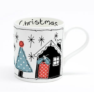 Christmas Bone China Mug