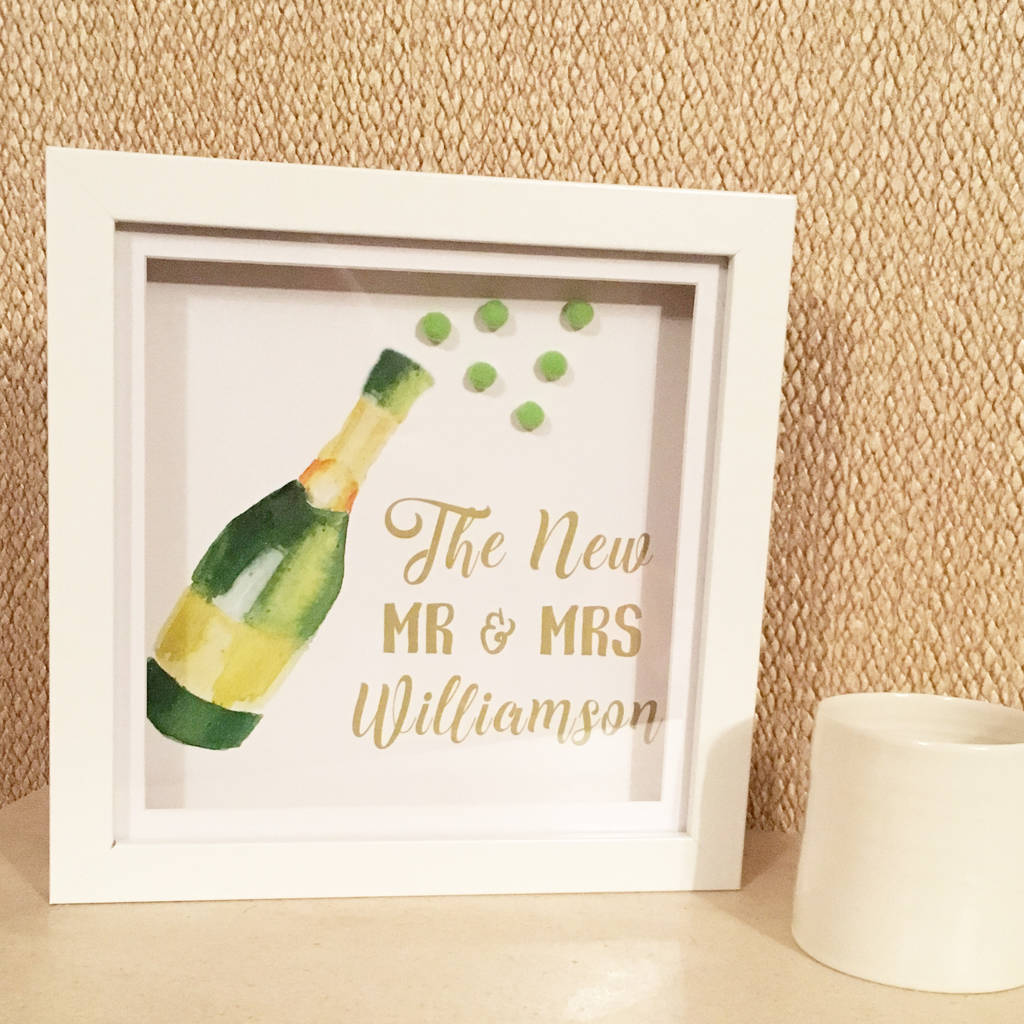 Personalised Memory Frame 3d Wedding Gift Mr And Mrs By Personalised
