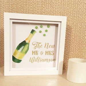 Personalised Memory Frame 3D Wedding Gift Mr And Mrs