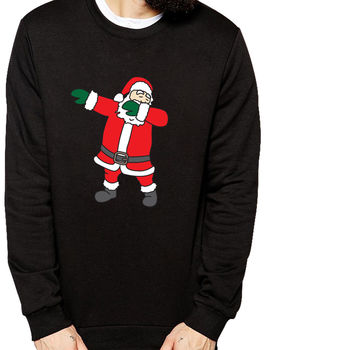Mens Dabbing Santa Christmas Jumper