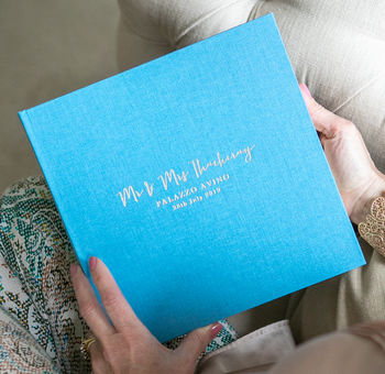Large Linen Wedding Memory Book