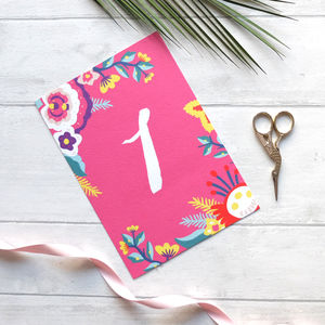 Colourful Table Numbers Or Names Fab Fiesta