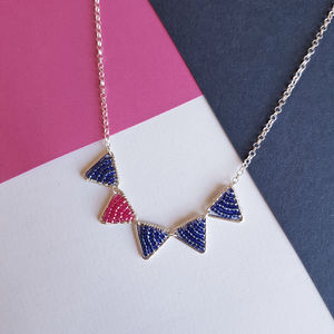 Mini Silver Five Triangle Necklace - new in jewellery