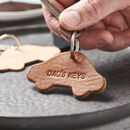 Personalised Leather New Car Keyring