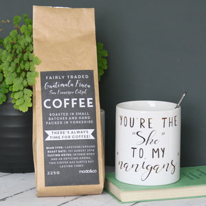 Personalised Shenanigans Mug And Coffee Set