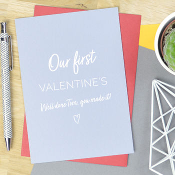 Personalised Cheeky First Valentine's Day Card