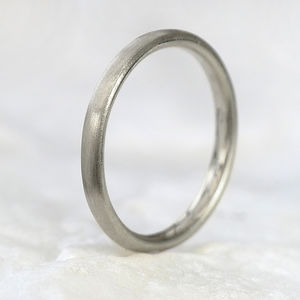 2mm Court Wedding Ring, 18ct White Gold - rings