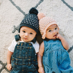 Knit Your Own: Baby's Bonnet Hat Knitting Kit - children's accessories