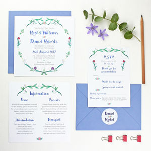 Botanical Wedding Invitation Set - invitations