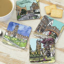 Set Of Four Oxford Coasters