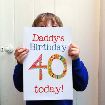 Big Birthday Card With Personalised Name And Age