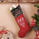 Personalised Nordic Heart Christmas Stocking