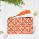 Alta Purse, Geometric Orange Design