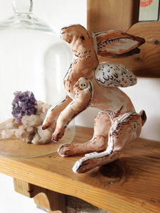 Flying Brown Hare Art Toy *Limited Edition* - keepsakes