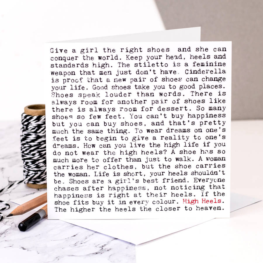 Card For Shoe Lovers