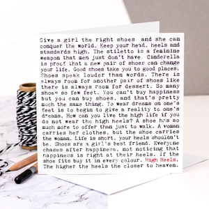 Card For Shoe Lovers - summer sale
