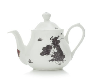 UK And Ireland Map Two Cup Teapot