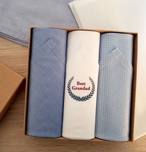 Handkerchiefs Set For Grandfather