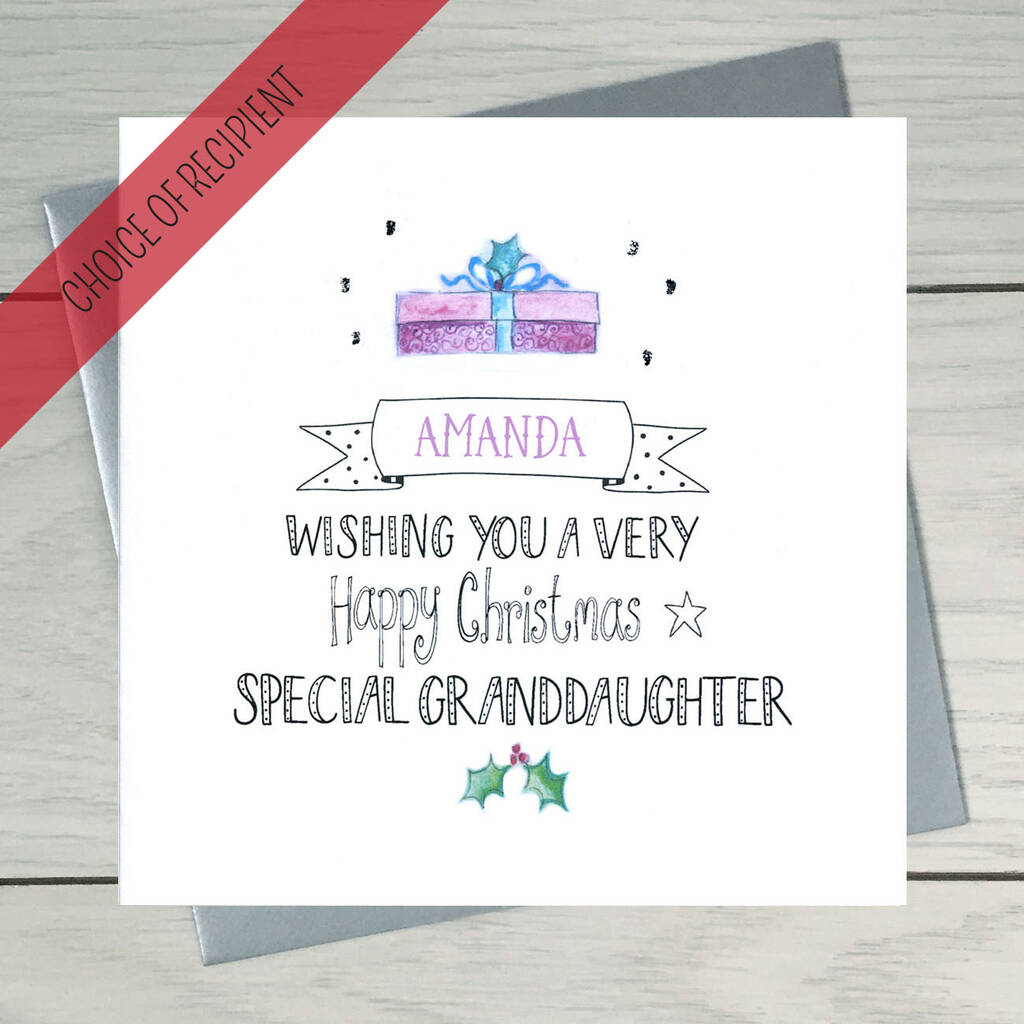 Christmas Gift Personalised Christmas Card By Claire ...