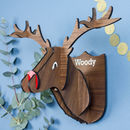 Personalised Wooden Stag Head Wall Decoration