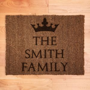 Personalised Crown Doormat - rugs & doormats