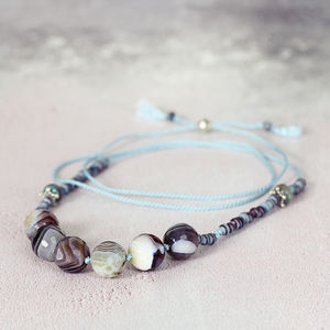 Agate Silk Knotted Necklace