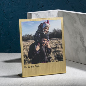 Personalised Solid Brass Polaroid Photo Print - home accessories