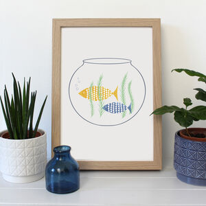 Fish Bowl A4 Art Print