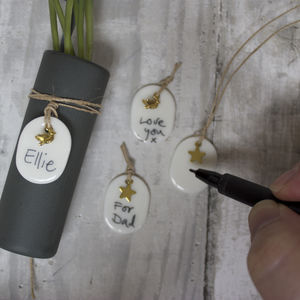 Three Handmade Porcelain Gift Tags - shop by category