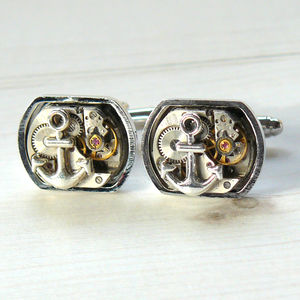 Watch Movement Anchor Cufflinks - men's accessories