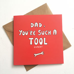 Funny Father's Day Card, Tool Expert, Tool Lover, Diy