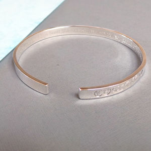 Mens Sterling Silver Bangle - bracelets