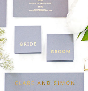 Grey And Gold Wedding Place Cards - what's new