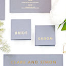 Grey And Gold Wedding Place Cards