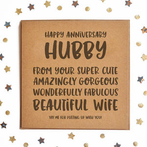 Happy Anniversary Hubby Square Card - what's new