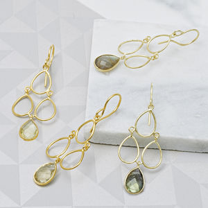18ct Gold Lemon Topaz Deco Earrings - view all fine jewellery