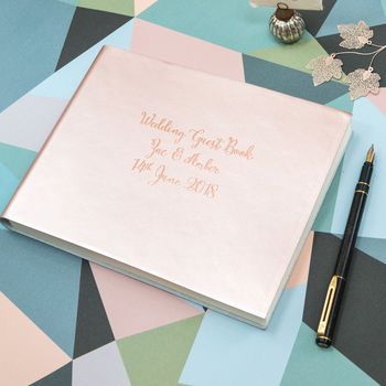 Guest Book In Rose Gold, Silver, Gold