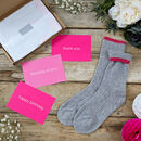 Letterbox Gift Cashmere Bed Socks