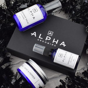 Premium Shaving Oil, Cream And Aftershave Balm Gift Box