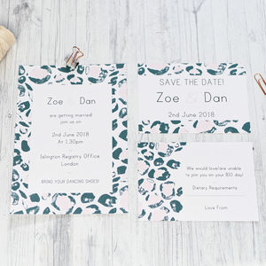 Leopard Print Wedding Stationery Range