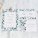 Leopard Print Wedding Invitation