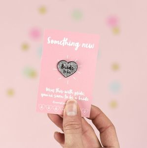 'Bride To Be' Heart Enamel Pin Badge