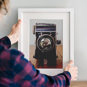 Personalised Vintage Camera Photo Print - for him