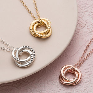 Personalised Mini Russian Ring Necklace - shop by interest