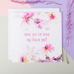 'Thank You For Being My Flower Girl' Card - wedding thank you gifts