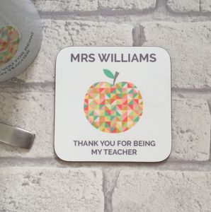 Personalised Teacher Thank You Coaster - view all sale items